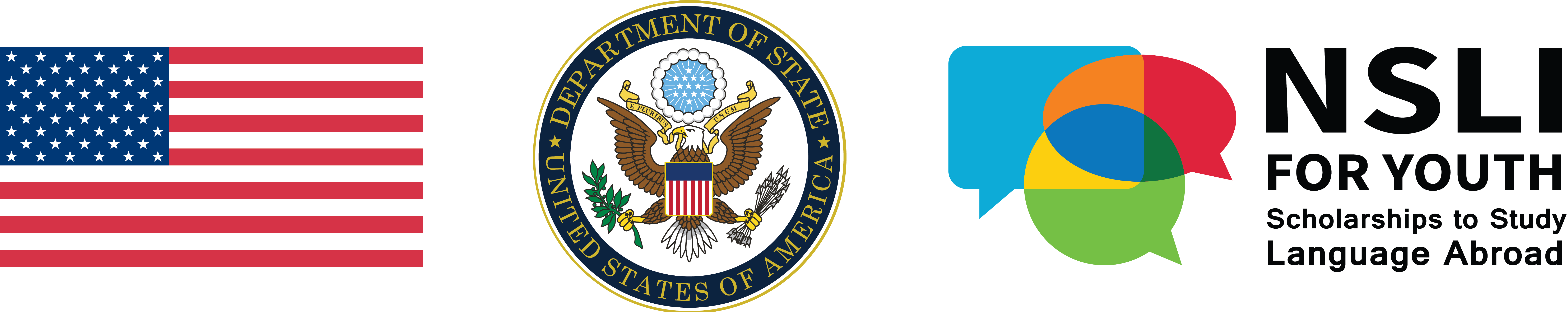 U.S. Dept of State and NSLI-Y Logos